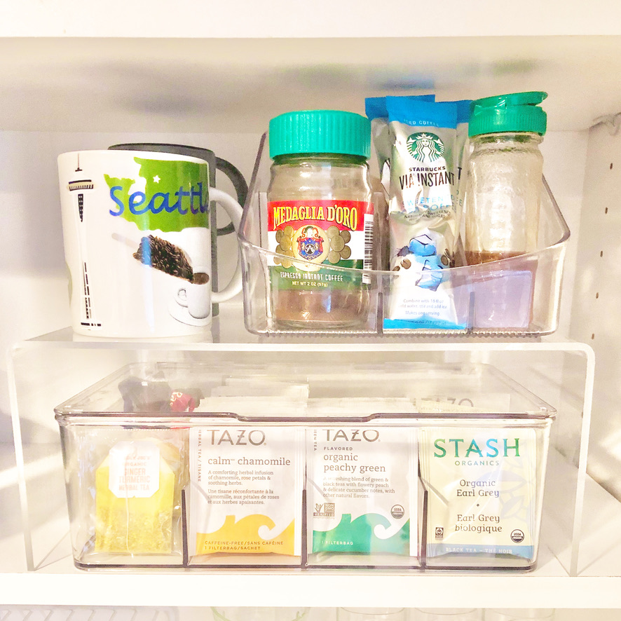 Organized tea and coffee