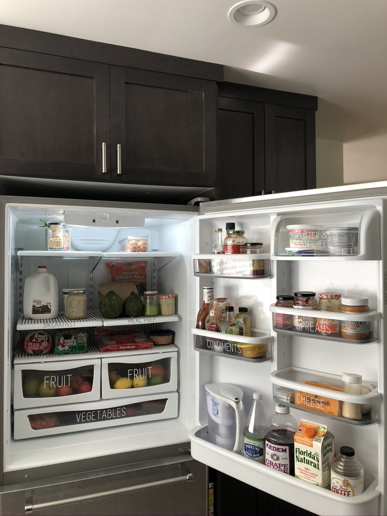 Organized fridge with Fridge Coasters