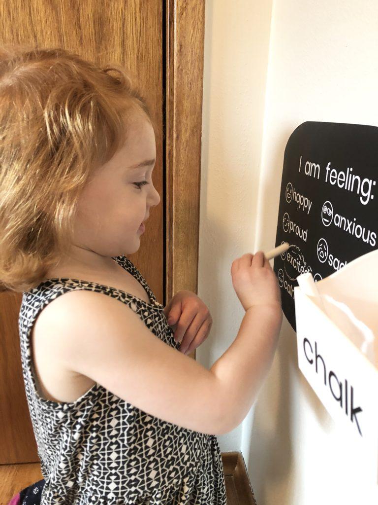 Custom chalkboard chart