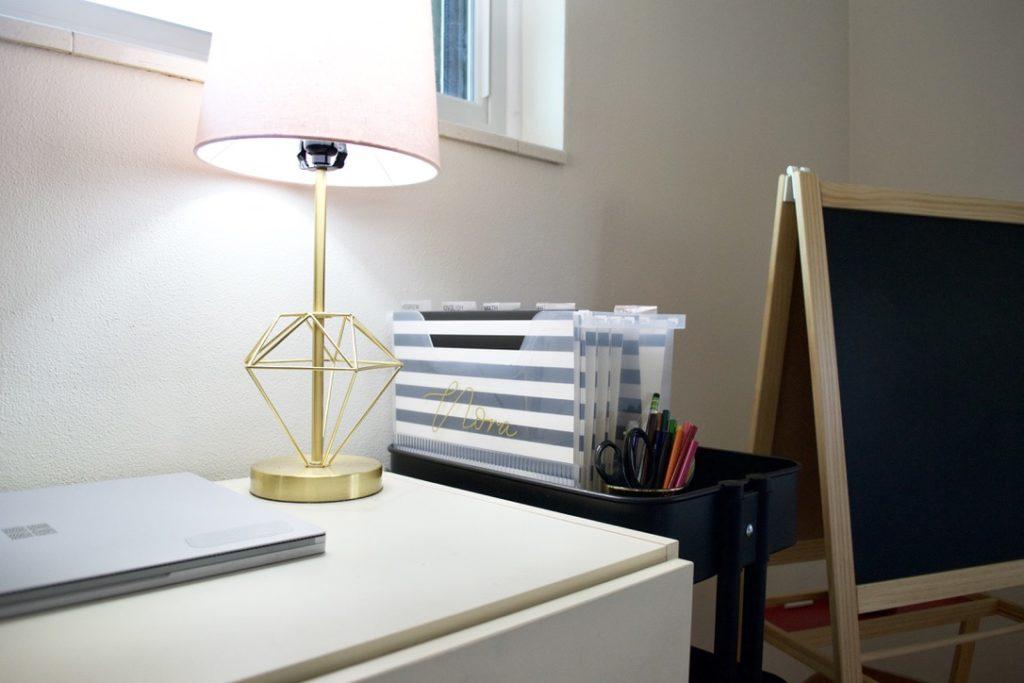 organized home school desk