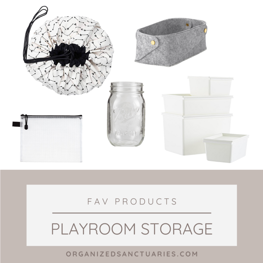 Playroom organizing products